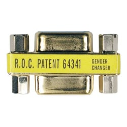 Tripp Lite Compact Gold DB9 Gender Changer Adapter Connector DB9 M/M