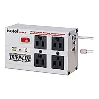 Tripp Lite Isobar Surge Protector Metal RJ11 4 Outlet 6ft Cord 3330 Joules