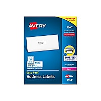 Avery Easy Peel White Mailing Labels