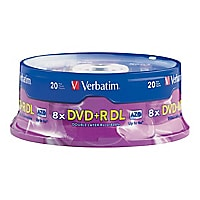Verbatim DVD+R Double Layer 8.5 GB - 20 pack spindle