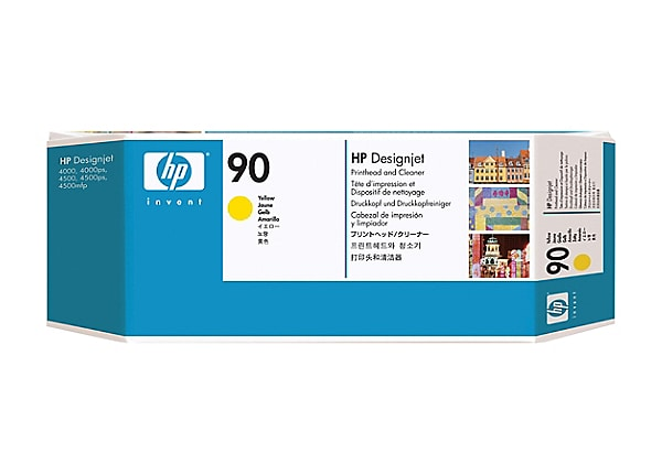 HP 90 - yellow - printhead with cleaner