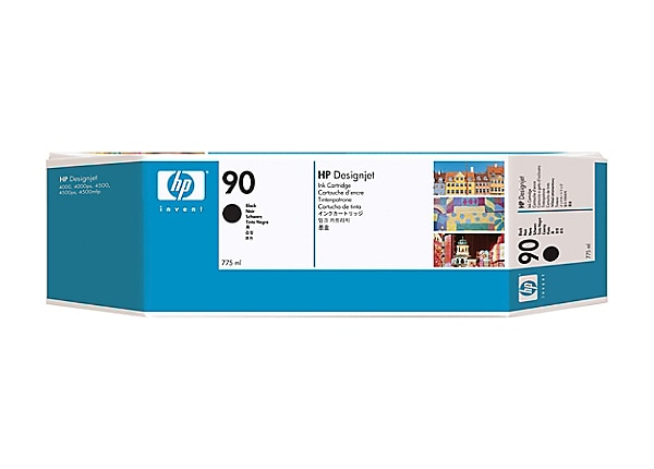HP 90 - black - original - DesignJet - ink cartridge