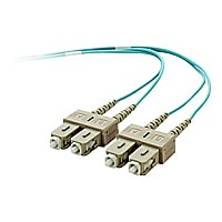 Belkin 3M 10Gb Duplex Multimode 50/125 OM3 Fiber Cable SC/SC Aqua 9.8ft