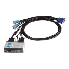 D-Link 2-Port PS/2 KVM Switch with Audio Support