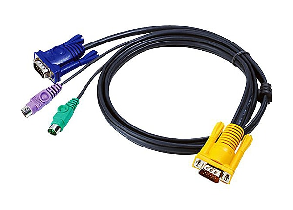 ATEN 2L-5201P - keyboard / video / mouse (KVM) cable - 1.2 m
