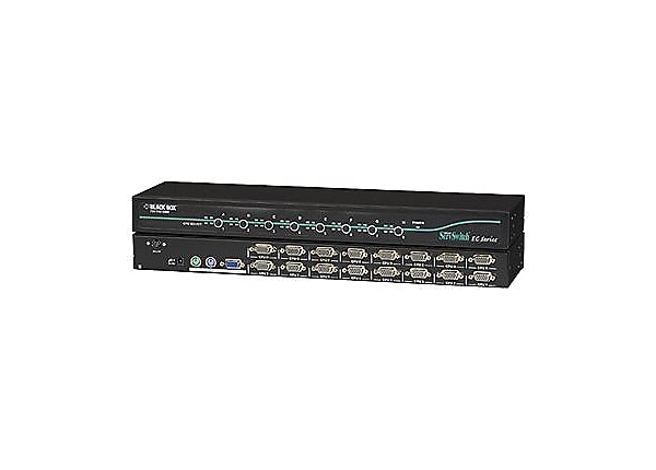 Black Box 16-Port ServSwitch EC for PS/2 and USB Servers and PS/2 Consoles