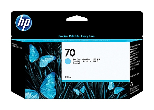 HP 70 - light cyan - original - DesignJet - ink cartridge