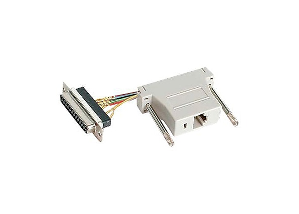 StarTech.com DB25 to RJ45 Modular Adapter - F/F - serial adapter