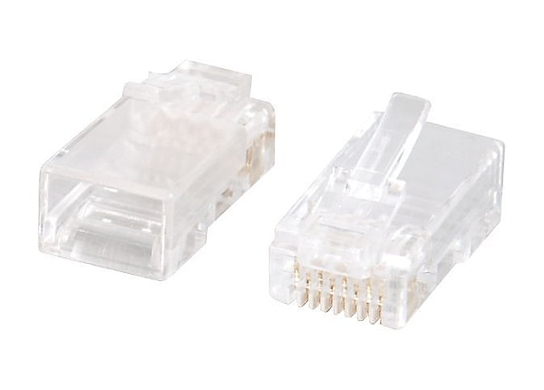 C2G RJ45 Cat5E Modular Plug (with Load Bar) for Round Solid/Stranded Cable