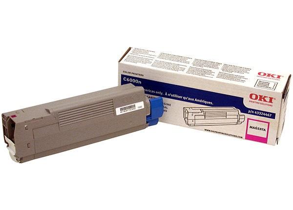 OKI C6000n/C6000dn Magenta Toner Cartridge