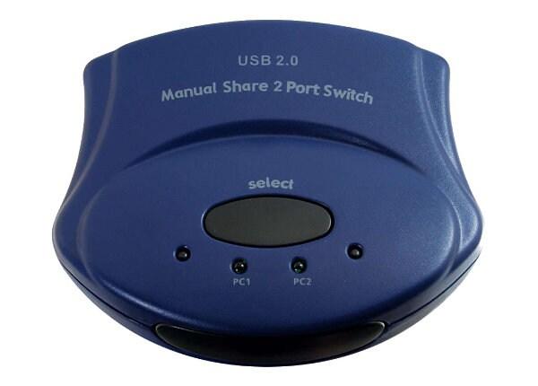 C2G 2-Port USB 2.0 Manual Switch - USB peripheral sharing switch - 2 ports