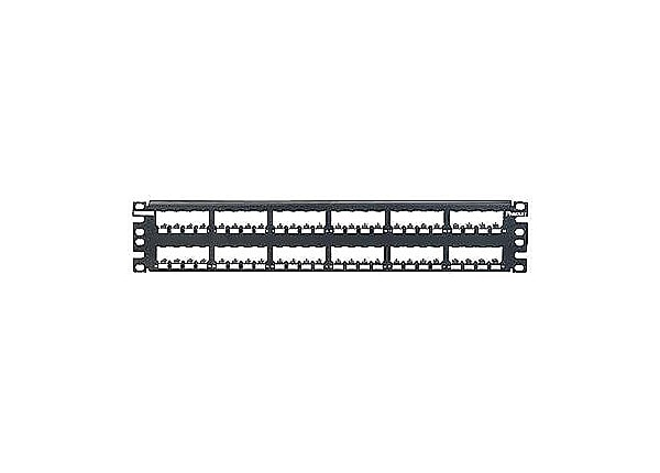 Panduit MINI-COM All Metal Shielded Modular Patch Panel - patch panel - 2U