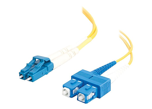 C2G 1m LC-SC 9/125 OS2 Duplex Single-Mode Fiber Cable - Yellow