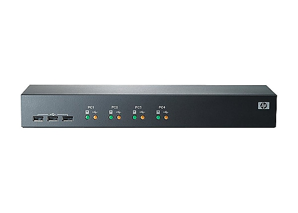 HPE Server Console Switch 1x4 - KVM switch - 4 ports - rack-mountable