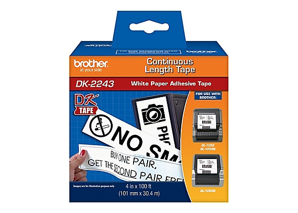 Brother DK2243 - tape - 1 roll(s) - Roll (10.2 cm x 30.48 m)