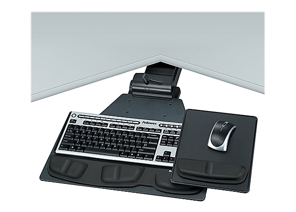 Fellowes Professional Series Corner Executive Keyboard Tray