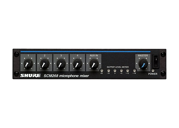 Shure SCM268 analog mixer - 4-channel