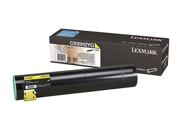 Lexmark High Yield Yellow Toner Cartridge