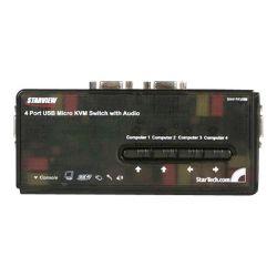 StarTech.com  SV411KUSB - KVM / audio switch - USB - 4 ports - 1 local user