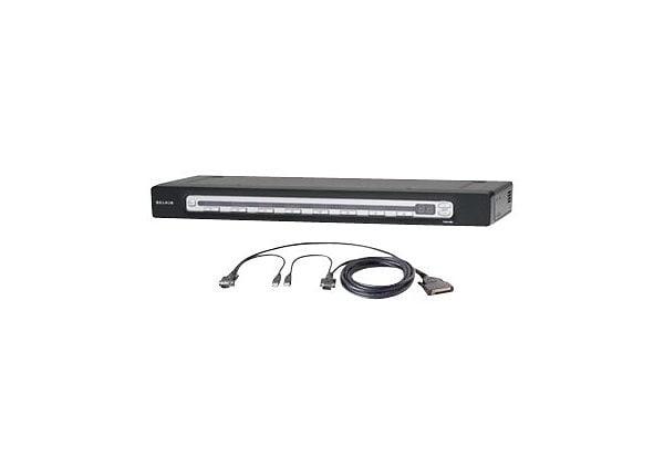Belkin OmniView PRO3 8-Port PS/2 &USB KVM Bundled w/4 6'Dual port USB Cable