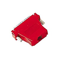 Black Box Modular Adapter Kit Unassembled, DB25M / RJ45F, Red,Thumbscrews