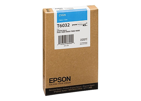 Epson T6032 - cyan - original - ink cartridge