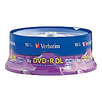 Verbatim - DVD+R DL x 15 - 8.5 GB - storage media
