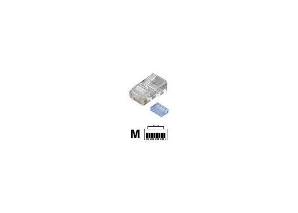 Black Box Premium 50mu CAT6 RJ45 Unshielded Connector w/Load Bar 100-Pack