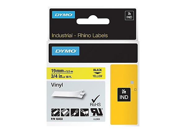DYMO - vinyl - 1 roll(s) - Roll (0 75 in x 18 ft)