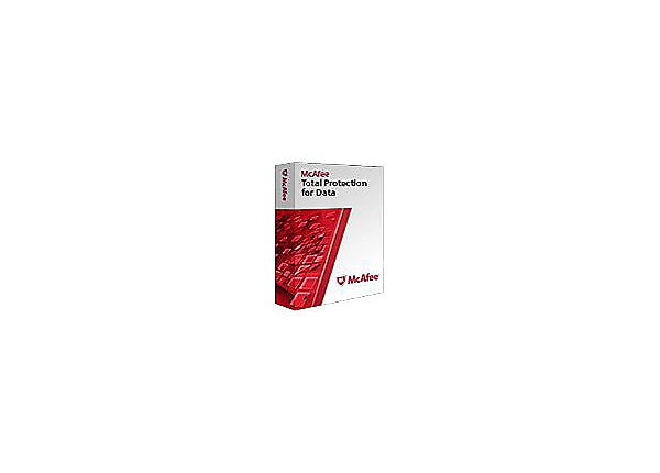 McAfee Total Protection for Data - license + 1 Year Gold Support - 1 node
