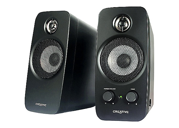 creative labs inspire t10 2 0 channel speaker system 51mf1601aa000 computer speakers. Black Bedroom Furniture Sets. Home Design Ideas