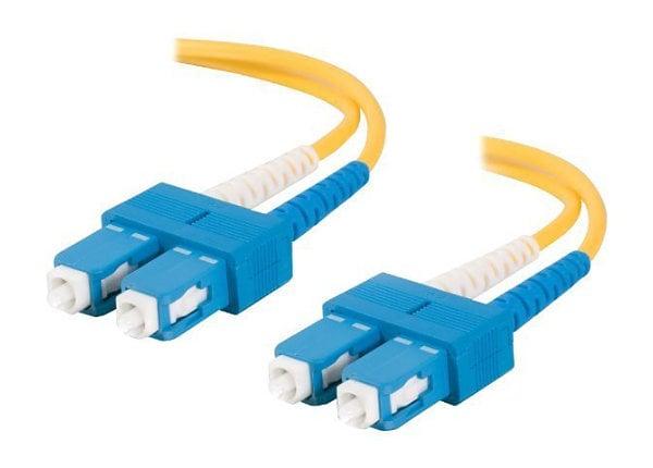 C2G 8m SC-SC 9/125 OS1 Duplex Single-Mode PVC Fiber Optic Cable - Yellow -