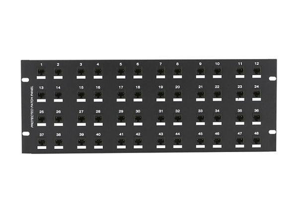 "Black Box CAT6 Protected Panel - patch panel - 2U - 19"""