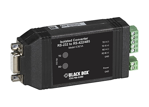 Black Box Universal RS-232RS-422/485 Converter with Opto-Isolation - ser