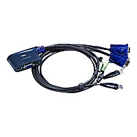 ATEN 2 Port USB KVM Switch with Audio and WIN 7 Support