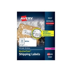 Avery WeatherProof Mailing Labels