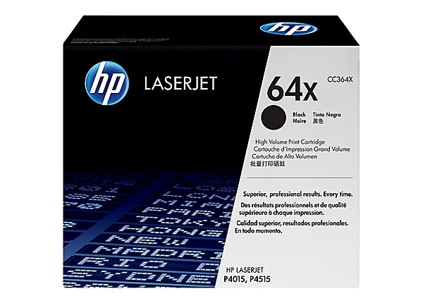 HP 64X Black High Yield Toner Cartridge