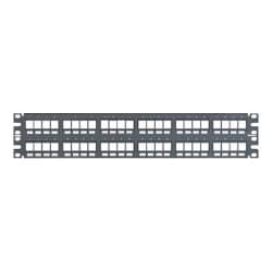 Panduit NetKey Flush Mount Modular Patch Panel - patch panel - 2U - 19""