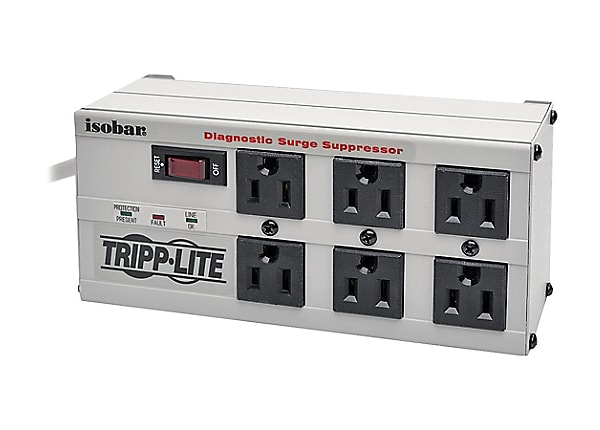Tripp Lite Isobar Surge Protector Strip Metal 6 Outlet 6ft Cord 3330 Joules