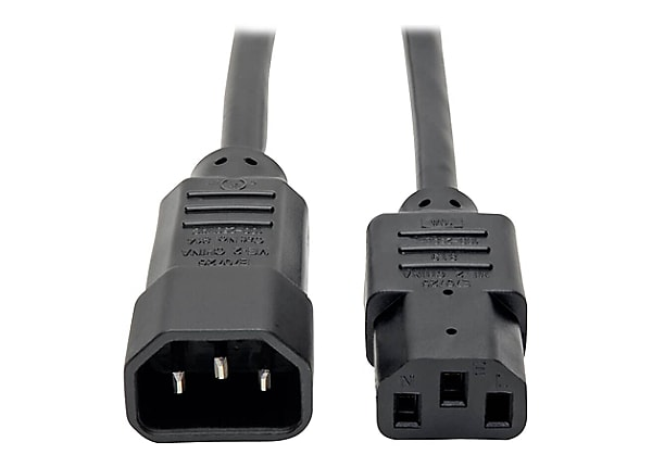Tripp Lite Computer Power Extension Cord 10A 18AWG C14 to C13 5 Pack 2' 2ft
