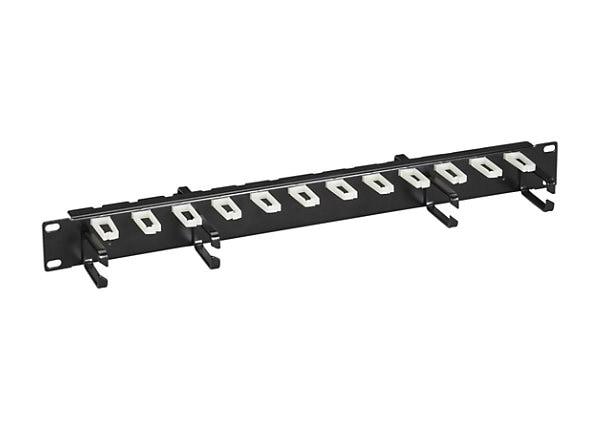 "Black Box Horizontal Organizer - cable organizer - 1U - 19"""