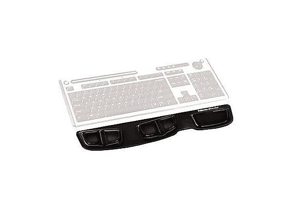 Fellowes® Keyboard Palm Support with Microban® - Black Gel