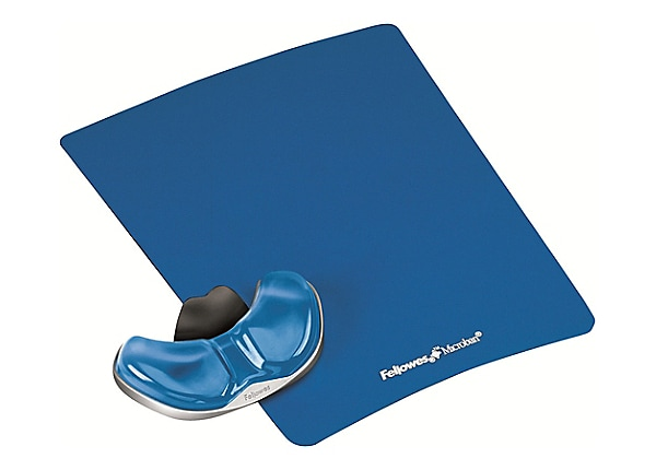 Fellowes® Gliding Palm Support with Microban® – Blue Gel