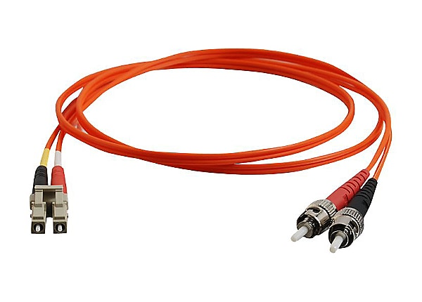 C2G 8m LC-ST 62.5/125 OM1 Duplex Multimode PVC Fiber Optic Cable - Orange -