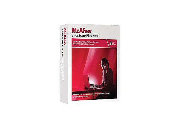 McAfee VirusScan Plus 2009 - box pack - 3 users