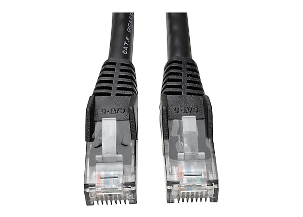 Tripp Lite 20ft Cat6 Gigabit Snagless Molded Patch Cable RJ45 M/M Black 20'