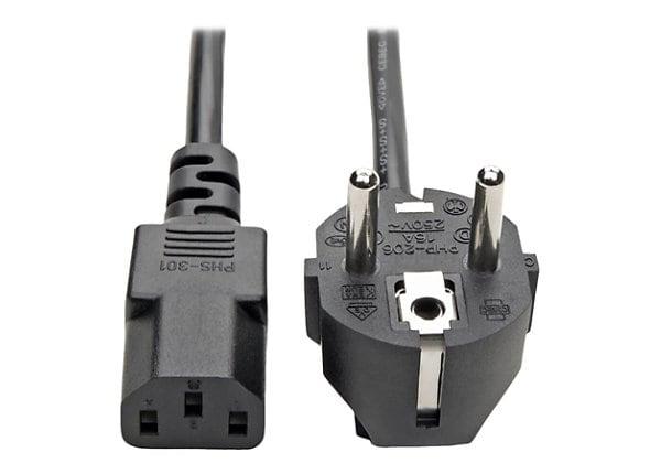 Tripp Lite 2 Prong European Computer Power Cord 10A C13 to SCHUKO Plug 6'