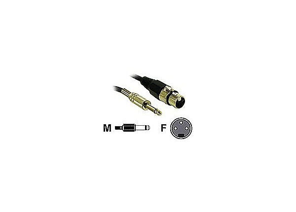 C2G Pro-Audio 12ft Pro-Audio XLR Female to 1/4in Male Cable - audio cable -