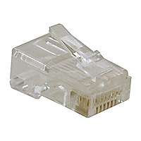Tripp Lite 10PK RJ45 Plugs Solid Stranded Conductor 4-pair Cat5e Cat5 Cable