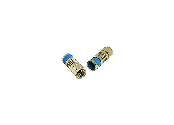 C2G Compression F-Type Connector with O-RING for RG6 QUAD - antenna connect